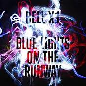 Blue lights on the runway